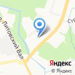 Альфапак на карте Калининграда