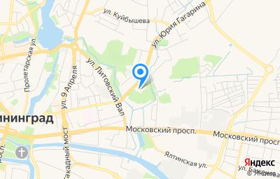 Местоположение на карте пункта техосмотра по адресу г Калининград, ул Ю.Гагарина, д 2К