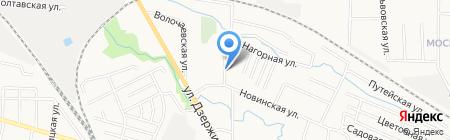 Подворье на карте Калининграда