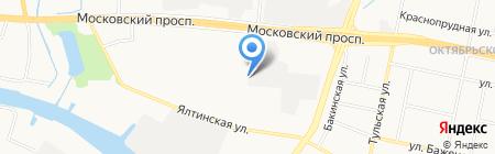 Дама на карте Калининграда