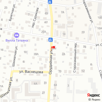 г. Калининград, ул. Орудийная, на карта