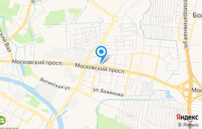 Местоположение на карте пункта техосмотра по адресу г Калининград, пр-кт Московский, д 203А
