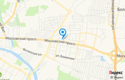 Местоположение на карте пункта техосмотра по адресу г Калининград, пр-кт Московский, д 205