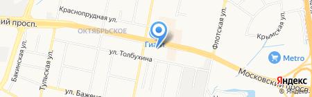 Алтеза на карте Калининграда