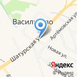 Магазин овощей и фруктов на карте Васильково