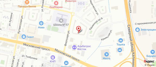 Карта расположения пункта доставки Калининград Флотская в городе Калининград