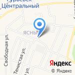 Магазин одежды и обуви на карте Гурьевска