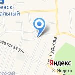Натали на карте Гурьевска