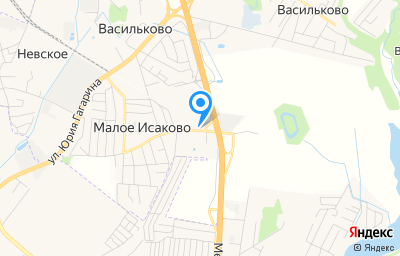 Местоположение на карте пункта техосмотра по адресу Калининградская обл, Гурьевский р-н, п Малое Исаково, ул Гурьевская, д 2В