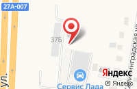 Схема проезда до компании Сервис Лада в Большом Исаково