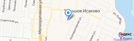 Почтовое отделение на карте Большого Исаково