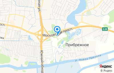 Местоположение на карте пункта техосмотра по адресу Калининградская обл, Гурьевский р-н, п Прибрежное, ул Фридриха, зд 15