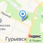 Бутыль на карте Гурьевска