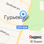 Поликлиника на карте Гурьевска