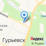 Парикмахерская на карте Гурьевска