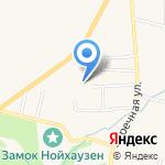 Заречный на карте Гурьевска