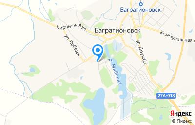 Местоположение на карте пункта техосмотра по адресу Калининградская обл, г Багратионовск, ул Утина, д 10Ж