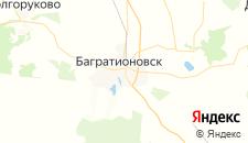 Отели города Багратионовск на карте