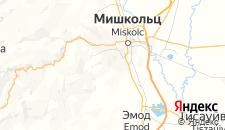 Отели города Мишкольц-Тапольца на карте