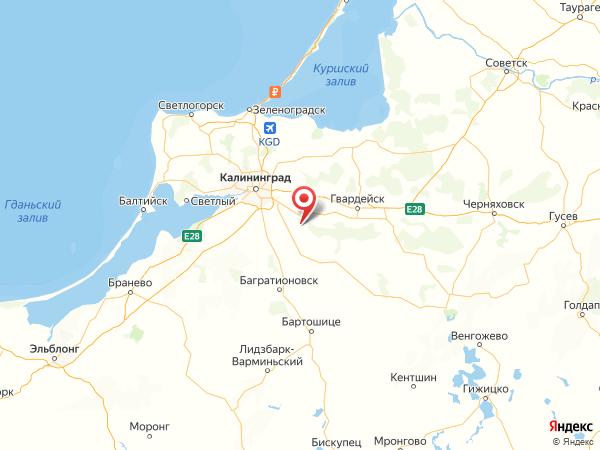 поселок Семеново на карте
