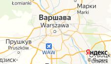 Хостелы города Варшава на карте