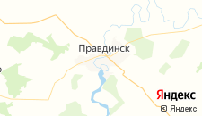 Гостиницы города Правдинск на карте