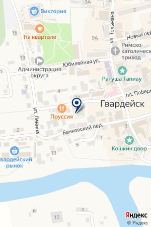 НОТАРИУС ВАСИЛЬЕВ А.И. на карте Гвардейска