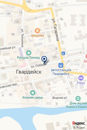 МАГАЗИН БЕРЕЗКА на карте Гвардейска