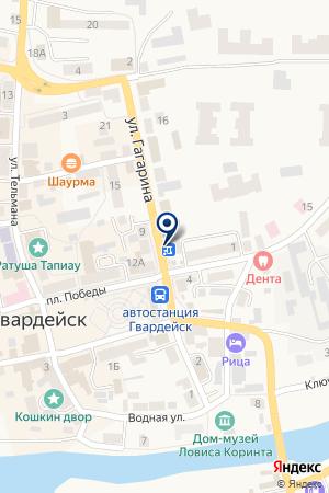 ОВД Г. ГВАРДЕЙСКА на карте Гвардейска