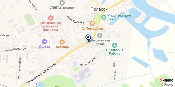 МТС на карте Полесске