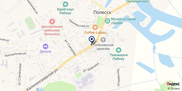 Татьяна на карте Полесске