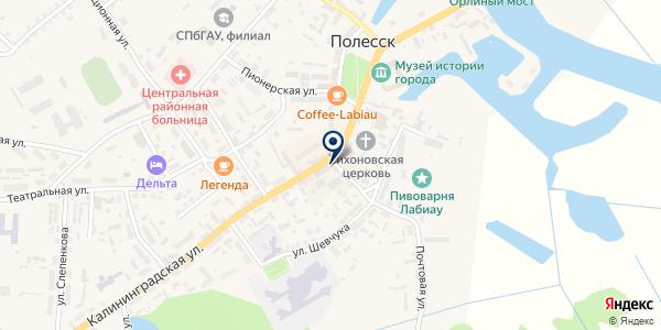 Штопор на карте Полесске