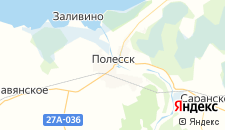 Отели города Полесск на карте