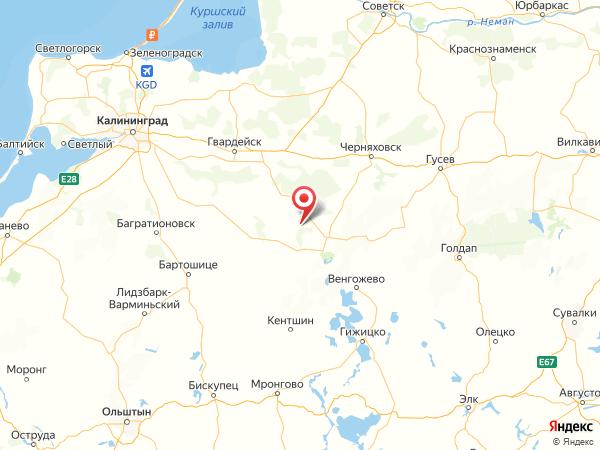 поселок Бородино на карте