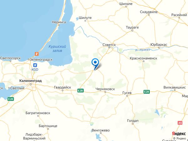 поселок Советское на карте