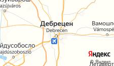 Отели города Дебрецен на карте