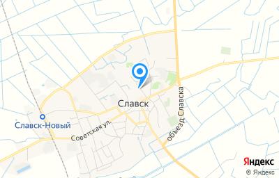 Местоположение на карте пункта техосмотра по адресу Калининградская обл, г Славск, ул Советская, д 18