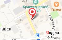 Схема проезда до компании Престиж в Славске