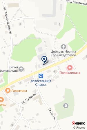 СЛАВСКИЙ ХЛЕБОЗАВОД на карте Советска