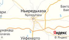 Отели города Ньиредьхаза на карте