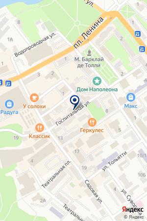 МАГАЗИН ХОЗТОВАРЫ на карте Черняховска