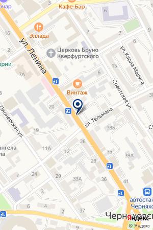 МАГАЗИН ОДЕЖДА на карте Черняховска