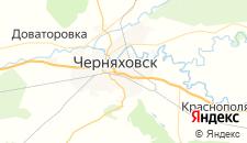 Частный сектор города Черняховск на карте