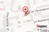 Схема проезда до компании ПТФ АЛЬЯНС в Советске