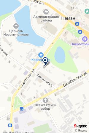 ИНФОРМАЦИОННЫЙ ЦЕНТР НЕДВИЖИМОСТИ ЛЕБЕДЬ на карте Советска