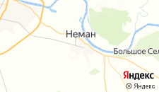 Отели города Неман на карте