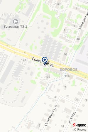 КОМБИКОРМОВЫЙ ЗАВОД на карте Гусева