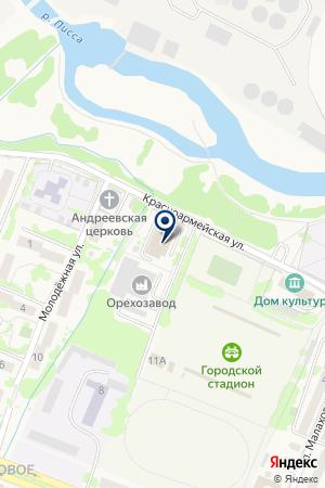ГУСЕВСКАЯ СРЕДНЯЯ ОБЩЕОБРАЗОВАТЕЛЬНАЯ ШКОЛА №1 на карте Гусева