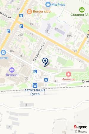 ПТФ ГУСЕВСКИЙ ХЛЕБ на карте Гусева
