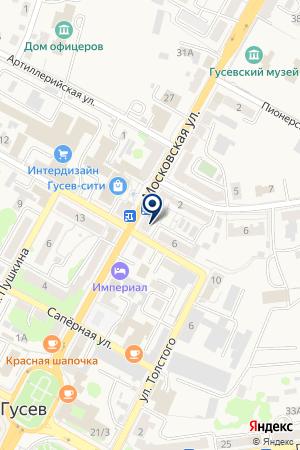 ОВД Г. ГУСЕВ на карте Гусева